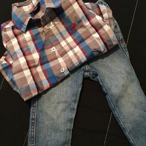 Wrangler 2pc Toddler Set Jeans and Button Down